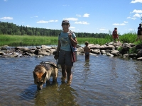 Wading in the Mississippi Headwaters at Lake Itasca