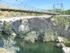 Old Swinging Bridge over Wind River by Largest Hot Springs in Thermopolis, WY