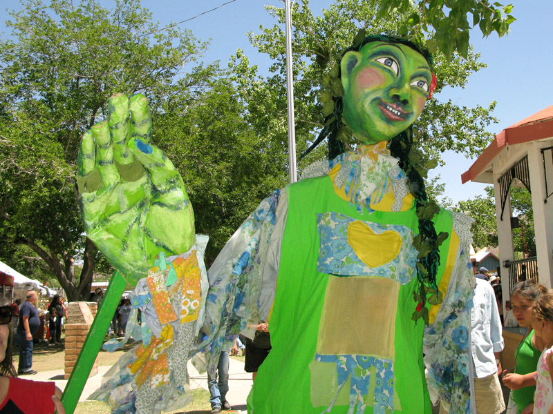 Giant Puppet in Truth or Conesquences Fiesta