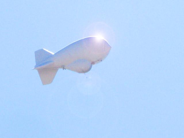 Marfa Texas Tethered Aerostat Radar Surveilance Balloon