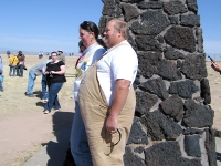 Fat Man at Trinity atomic bomb test site. Where's Little Boy?