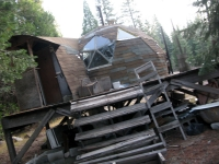 Abandoned Dome Home in Shasta Forest