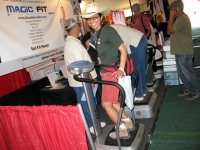 Rene Tries the Magic Fit at Quartzsite RV Show