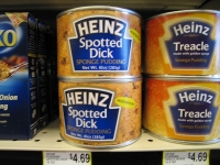 Spotted Dick in a Can at Fargo, ND Supermarket