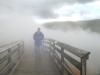 Jim crosses Hot Lake in Yellowstone National Park