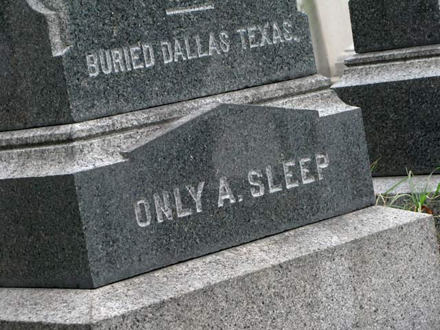 Only A. Sleep at Fredericksburg Confederate Cemetery