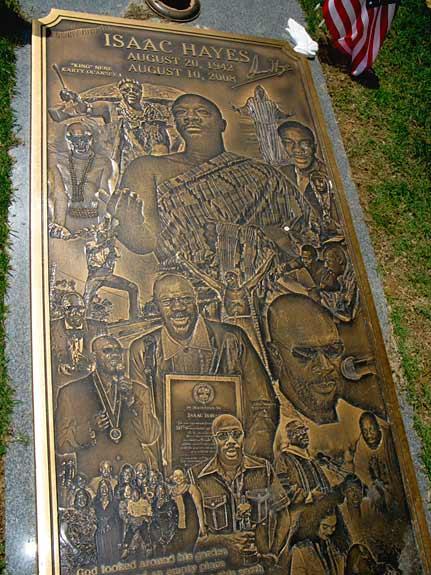 Isaac Hayes Grave Marker Memorial Park Memphis, TN