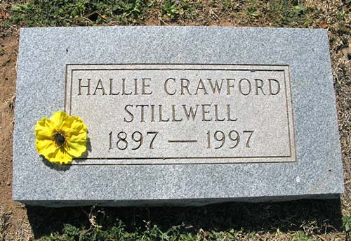 Hallie Stillwell, grave, Alpine, Texas