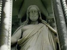 Creepy Jesus Monument Mt Olivet Cemetery