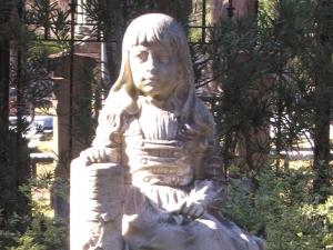Gracie at Bonaventure Cemetery Savannah Georgia