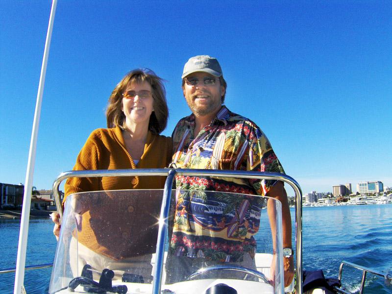 Captain Eric Auckerman and First Mate Julie