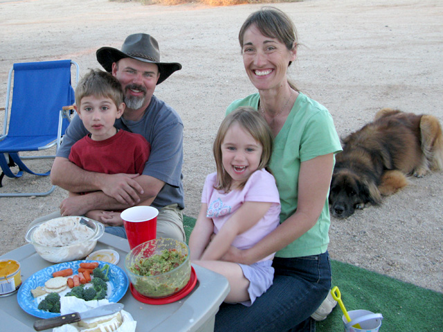 Family Dines Alfresco on RV Road Trip