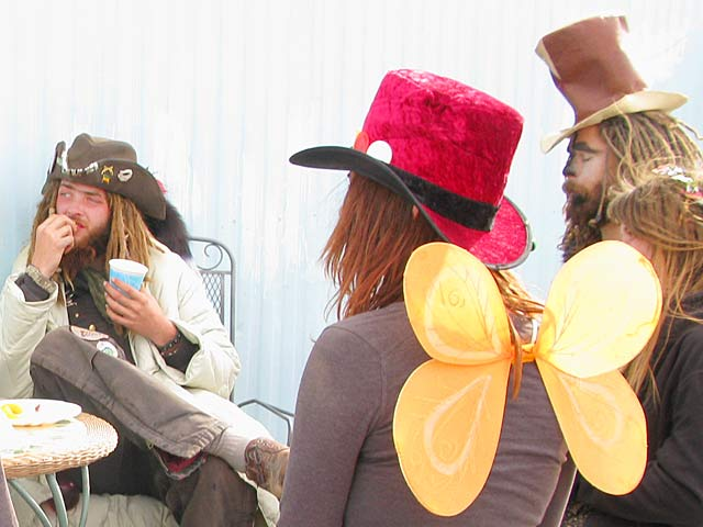 Slab City Pot Luck Mad Hatters Tea Party