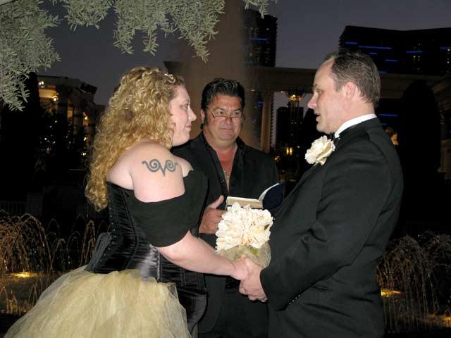 Las Vegas Wedding Friends at Ceasar's Palace