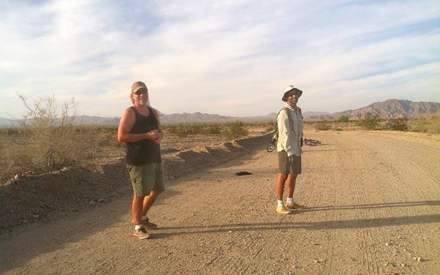 Slab City bombing range walk