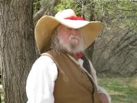 In character at Rancho de las Golandrinas