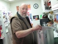 Papa Agredano making Tamales