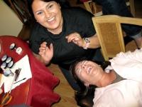 Jenny gives Liz fake eye lashes