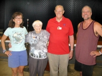 Escapees Founders Joe and Kay Peterson with Jim and Rene