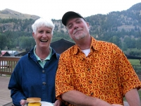 Ann and Jim at Vickers Ranch Burger Night