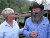 Paulette and Mountainman Larry Vickers at Burger Night
