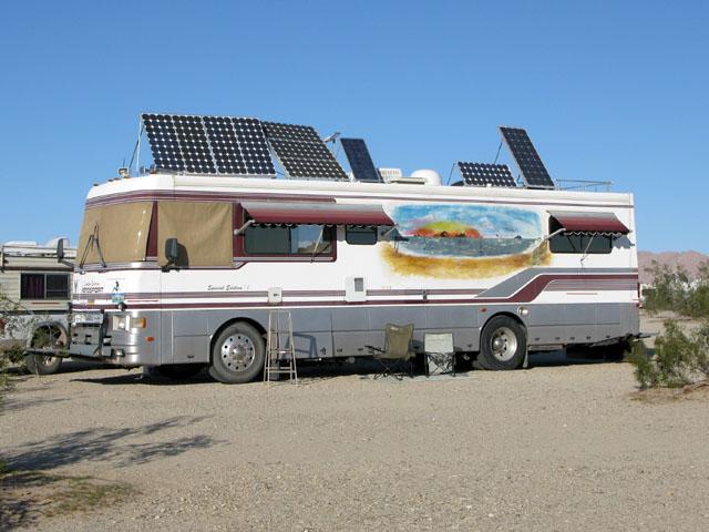 Off Grid Solar RV Boondocking at Slab City