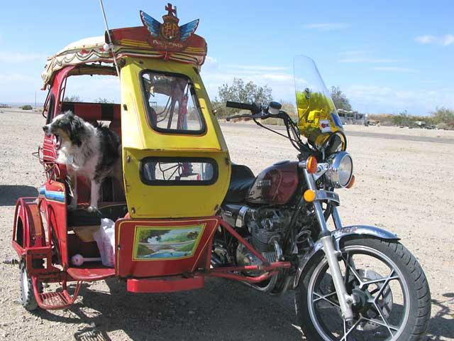 Vintage Filipino motorcycle side car
