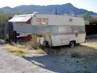 Old fifth wheel in Truth or Consequences, NM