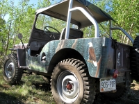 The Goat - Old painted Willys on Gold Hill at Vickers ranch