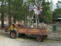 Old Oliver Spreader in Etna, CA