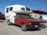 Slab City Toyota Camper at Niland Flea Market