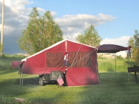 Motorcycle Tent Trailer KOA Camping