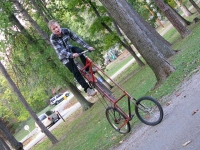 Homemade Tall Bike Scales Lake Campground Booneville IN