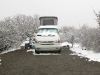 VW Westfalia Camping in the snow at Black Canyon National Park