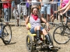 Rene rides kinetic chair at 2010 Tour de Fat