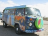Slab City Cozmic Train Hippie VW Van