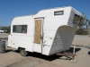 Small Old Fifth Wheel Trailer at Slab City