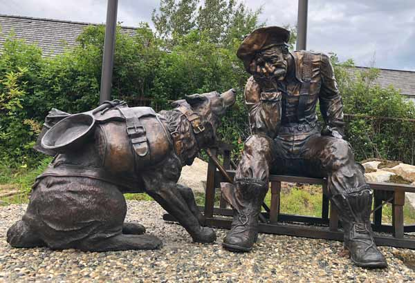 Skagway Alaska Gold Rush Dog Bronze Statue