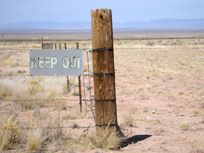 Keep Out of White Sands Missile Range at Trinity Site