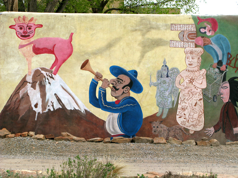 Roadside Art Mural in Santa Fe, NM