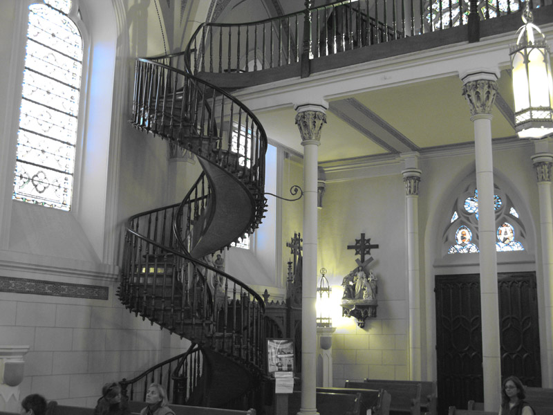 The Miraculous Stairs at Loretto Chapel in Santa Fe, NM