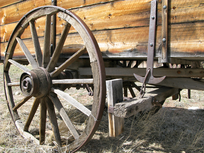 Old Wagon Detail in South Park City, CO