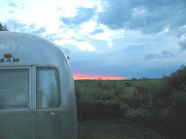Wellington KOA Airstream Sunset