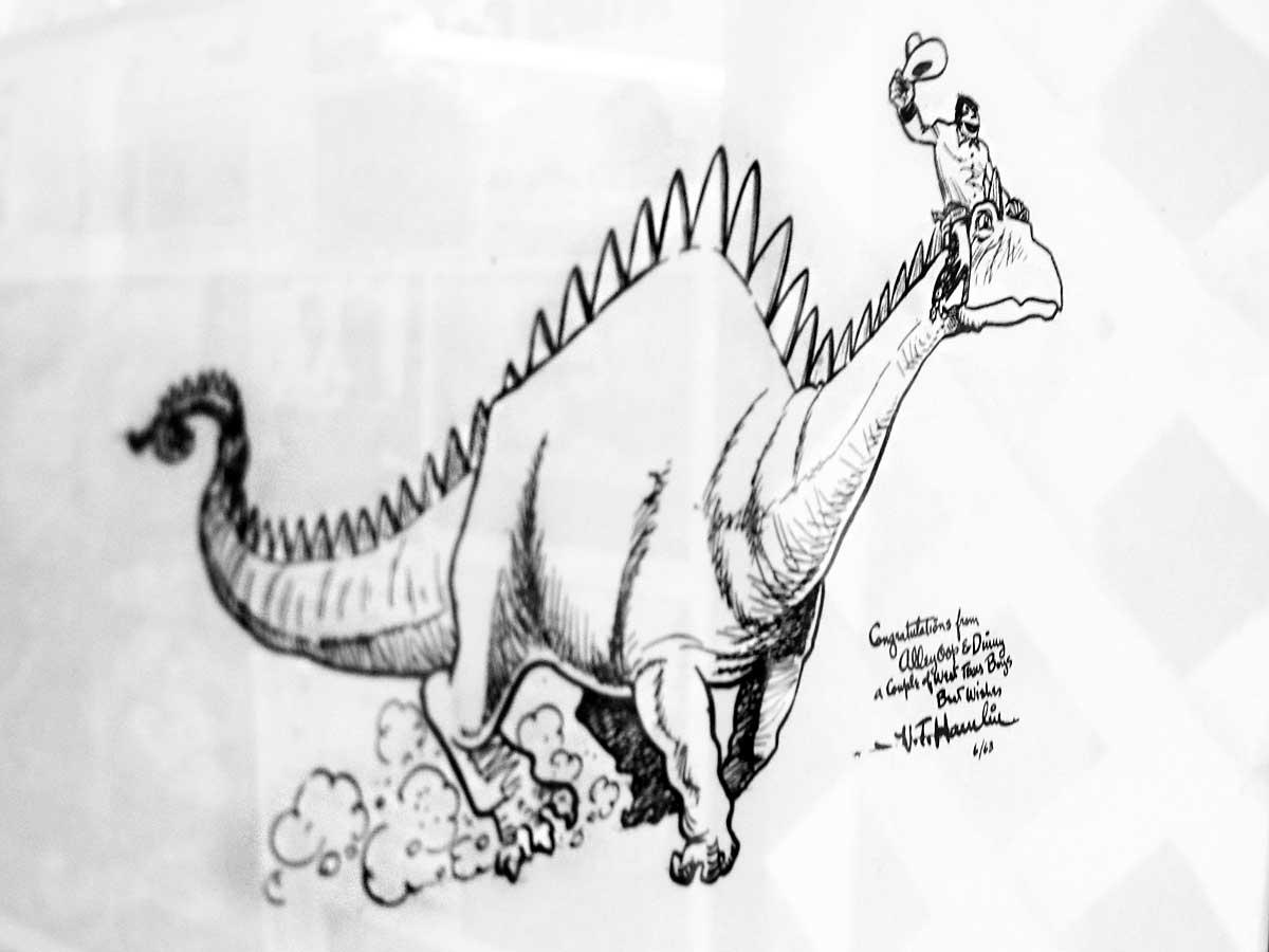 Original Victor Hamlin Alley Oop Texan Cartoon