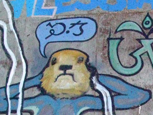 Kamasurta Mural Tank Art at Slab City