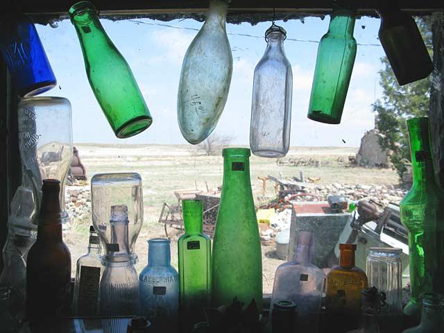 Genoa Wonder Tower Museum Window Glass Bottles