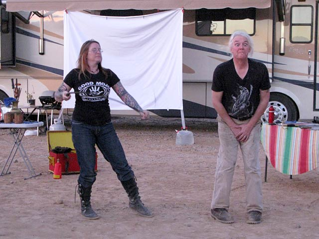 NüRVers Charon and Lexi Perform Campfire Sideshow Act