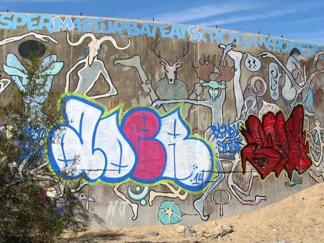 Slab City Tanks Grafitti Art