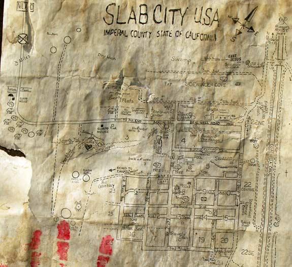 Slab City Map