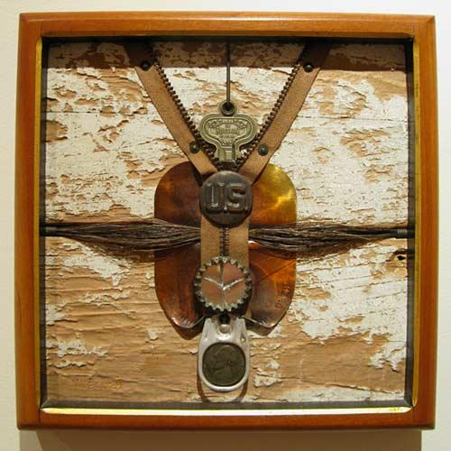 J Fred Woell Found Art Metal Museum Exhibit